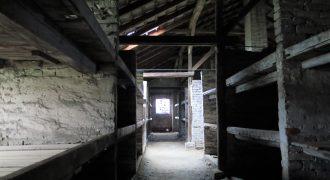 Image of children's barrack in Auschwitz II-Birkenau at the Auschwitz-Birkenau Memorial and Museum, 2017